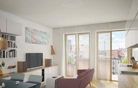 New homes for sale in Prague. Luxury apartment with a balcony and a terrace, in a new residential complex, in a quiet residential area, Prague 9, Czech Republic