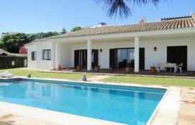 Houses with pools for sale in Manilva. Renovated villa with a private pool, a garage, terraces and sea views, Manilva, Spain