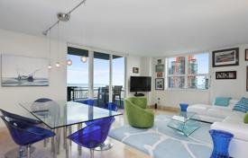 Property for sale in North America. Two-bedroom apartment with spacious terraces and ocean views, in a modern condominium with a swimming pool, Miami Beach, Florida, USA