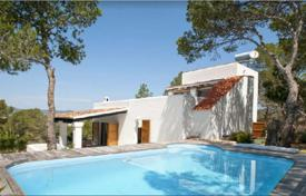3 bedroom houses for sale in Ibiza. Mediterranean style villa with a pool, a garden and a sea view, near the beach of Talamanca, Ibiza, Spain