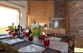 Cheap apartments for sale in Auvergne-Rhône-Alpes. Two-bedroom apartment with a terrace in a new complex in the ski resort of Morzine, Haute-Savoie, France