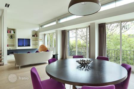 4 bedroom houses for sale in 16th arrondissement of Paris. House with panoramic windows landscaped patio and a terrace in Paris 16th district, Ile-de-France