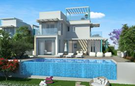 Off-plan houses with pools for sale overseas. Villa with rooftop terrace, private garden and swimming pool, 7 minutes from the beach, in Protaras, Cyprus
