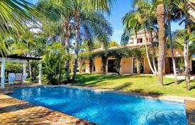 Elegant villa with a tropical garden and sea views in Puerto Banus, Costa del Sol, Spain for 4,500,000 €