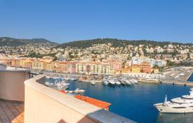Luxury 4 bedroom apartments for sale in Nice. Penthouse with spacious terraces in a residence by the sea, near the Old Town and the Port of Nice, Côte d'Azur, France