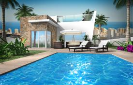 Houses with pools for sale in Finestrat. New villas in an elite residential complex, Finestrat, Alicante, Spain