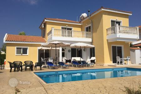 Coastal houses for sale in Cyprus. Furnished villa with sea views, only 300 meters from the beach of Coral Bay, Paphos