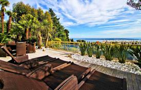 Apartments with pools for sale in France. Luxurious apartment with a huge terrace, a garage and a panoramic sea view in a secured residence with a pool, Cannes, France
