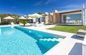 New villa with a sea view, on a plot with a large pool, lounge areas and a parking, near Cala Conta beach, San Jose, Ibiza, Spain for 14,000 € per week