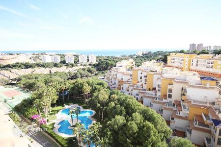 Coastal penthouses for sale in Spain. Duplex — penthouse with beautiful views to the sea and the pinnate green of Campoamor, Spain