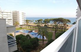 New home from developers for sale in Catalonia. Sea view apartments with different layouts and terraces, in a guarded residence with a pool and a garden, 30 m from the beach, Blanes, Spain