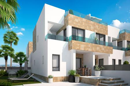 Cheap townhouses for sale in Spain. 3 bedroom Townhouses with private solarium in Villamartín