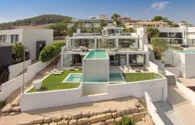 Residential to rent in Es Cubells. Exclusive furnished villa with a cascading pool and panoramic sea views in Es Cubells, Ibiza, Spain