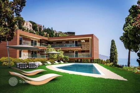 Apartments for sale in Sicily. New high-end picturesque view apartments with different layouts, Taormina, Sicily, Italy