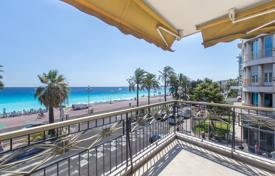 Coastal apartments for sale in Côte d'Azur (French Riviera). Furnished apartment with a seaview terrace in a prestigious residential house with a concierge and an elevator, Nice, France