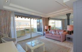 Apartments with pools for sale in France. Furnished seaview studio-apartment with a terrace in a prestigious residential estate on the Promenade des Anglais, Nice, France