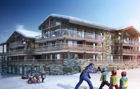 New homes for sale in Les Gets. Apartment with a balcony and a sauna, with mountain views, in a new residence, in the center of the ski resort, Les Gets, Alpes, France