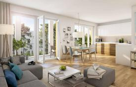 New homes for sale in Bavaria. Three-room apartment with terrace and private plot of land in a new building, Vaterstetten, Munich suburb