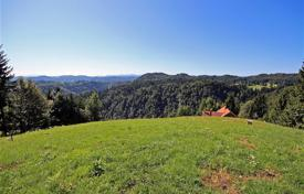 Development land for sale in Slovenia. This is a large plot of 9.700 m² land with a large part allocated as a building plot