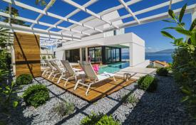 Coastal houses for sale in Split-Dalmatia County. Comfortable villa with a plot, a pool, terraces and sea views, Sutivan, Croatia