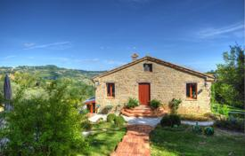 Houses with pools for sale in Marche. Furnished villa with a terrace and a swimming pool, near Cupramontana, Italy