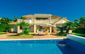 Luxury 3 bedroom houses for sale in Andalusia. Two-level villa overlooking the sea and the mountains, Elviria, Costa del Sol, Spain