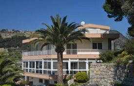 Coastal houses for sale in Bordighera. Villa with a panoramic view, terraces, a garden and a barbecue area, at 800 m from the sea, Bordighera. Excellent investment opportunities!