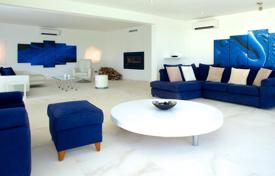 Luxury houses for sale in Balearic Islands. Renovated seaview villa with modern design, Ibiza, Spain