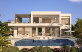 Houses for sale in Andalusia. New three-level villa with pool and garden in Estepona, Costa del Sol
