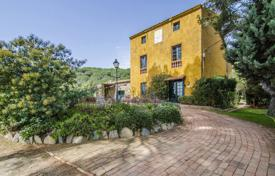 Houses for sale in El Mas Coll. Historical estate with vineyards and a mill, overlooking the sea, in a suburb of Barcelona, Spain