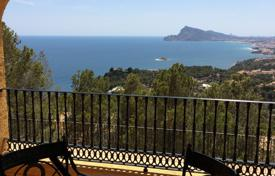 Two-level villa with a pool and sea views in Altea, Alicante, Spain for 600,000 €
