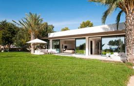 Luxury 6 bedroom villas and houses to rent in Spain. Villa with views of the sea and the surroundings, on a huge plot with a garden, a pool, lounge areas and a barbecue ground, Ibiza, Spain