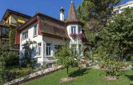 Luxury 4 bedroom houses for sale in Central Europe. Lake view villa of the early 20th century with terrace and garden, in the center of Montreux, Suisse