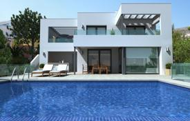 3 bedroom houses for sale in Cumbre. Modern villa with panoramic sea views, in a complex with the equipped adjacent territory, pool and parking, Benitachell
