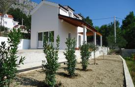 Houses with pools for sale in Dalmatia. Villa with a private garden, a pool, a parking, a terrace and a sea view, Omis, Croatia