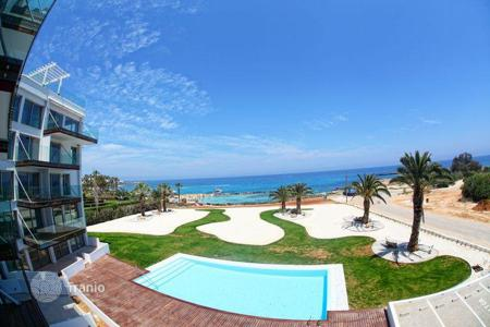 Apartments with pools for sale in Famagusta. Apartments on the first line to the sea in Protaras, on Cyprus