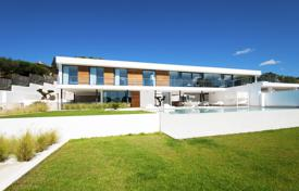 Luxury 4 bedroom houses for sale in Ibiza. New modern villa with a pool and a terrace, in a prestigious residence on the South coast of Ibiza, Spain