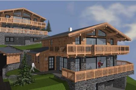 Houses for sale in Salzburg. Three-storey chalet on the slopes, Saalbach-Hinterglemm, Austria. Sale under construction!