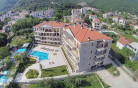 Apartments with pools for sale in Becici. Apartment in the new residential complex, within 50 m from the beach