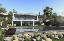 Luxury residential for sale in Benalmadena. Exclusive three-storey villa with a pool, terraces and a garden, in a gated residential complex, Benalmadena, Spain