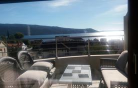 3 bedroom apartments by the sea for sale in Herceg-Novi. Penthouse with terrace and panoramic views of the Bay of Kotor in the club complex, 150 meters from the sea, Herceg Novi, Montenegro