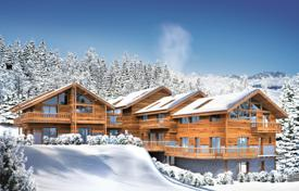 4 bedroom houses for sale in Auvergne-Rhône-Alpes. New chalet with a balcony and a terrace, 10 minutes walk from the center of Alpine village, next to the ski lift, Meribel, Alps