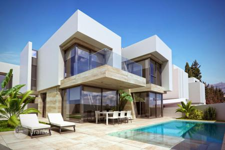 Off-plan houses with pools for sale in Costa Blanca. Modern villas with a terrace in a new residential complex in the center of Albir, Spain. Certain parts, private swimming pool, elevator