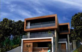 Off-plan houses with pools for sale in Southern Europe. Plot with project villa in Sutomore