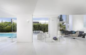 Residential for sale in Israel. Modern minimalistic villa with refined design, a terrace and a pool in the luxurious village of Kfar Shmaryahu, Herzliya, Israel