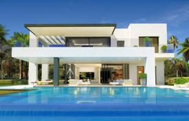 Off-plan property for sale in Southern Europe. Modern villa with a private garden, a pool and a terrace, Marbella, Spain