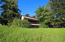 Residential for sale in Radovljica. This is a well know architecturally designed house close to lake Bled with views across the fields to Bled Castle