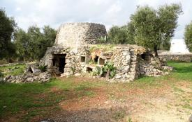 Cheap development land for sale in Italy. Plot of land with a traditional house and a sea view, Pato, San Gregorio, Lecce, Italy