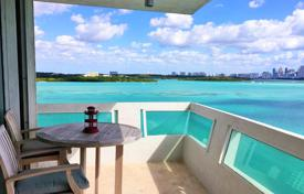 2 bedroom apartments for sale in North America. Three-room flat with panoramic ocean views, in a condominium with a pool and a parking, Bay Harbor island, Miami Beach, Florida, USA