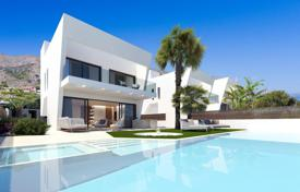 Houses with pools for sale in Finestrat. New villa with a panoramic view of the sea and the city in Finestrat, Alicante, Spain